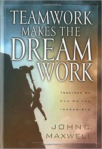 Teamwork Makes The Dreamwork John C Maxwell 9780849955082 Amazon