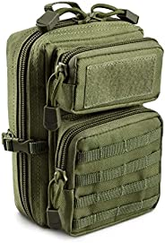 Tactical Molle Pouch Multi-Purpose Outdoor Tool Bag as Men's Wallet, Shoulder Bag and Waist Bag Matching N