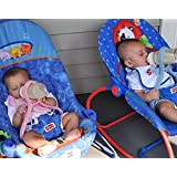 BABY BOTTLE HOLDER Hands Free Feeding Twins Triplets Multiples, BLUE (shades vary)