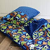 Dinosaur Nap Mat for Toddler Boy Kindermat Cover with pillowcase and blanket Preschool Daycare