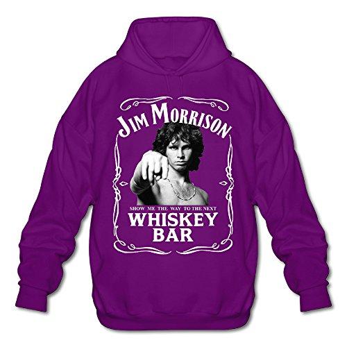 Men's Jim Morrison The Doors Show Me Next Whiskey Bar Hoodies Purple (Ray Brille)