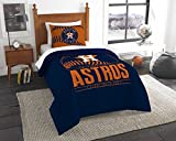 "Northwest Houston Astros Twin Comforter Set, Orange, 64"" x 86"""