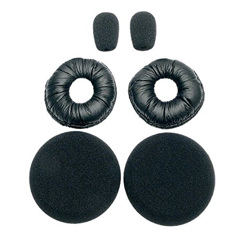 BlueParrott 202846 Replacement Ear/Mic Cushion Kit, 6 Pcs. for B250 Series Headsets ()