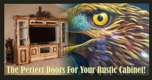 HAND PAINTED EAGLE (OR OTHER) DOORS ON BIRCH PANELS FOR YOUR CUSTOM CABINETRY!