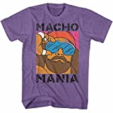 American Classics Macho Man 1980's WWF Heavyweight Wrestler Mania Adult T-Shirt Tee