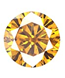 Dark Brown Color 4.75 Ct Loose Moissanite Brilliant Round Fancy Cut I1 Clarity