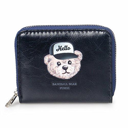 fency-womens-baseball-bear-wallet-small-matte-synthetic-leather-zip-around-purse-poono-series-95-deg