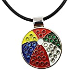 PINMEI Golf Ball Marker with Magnetic Necklace Great Golf Gift for Women