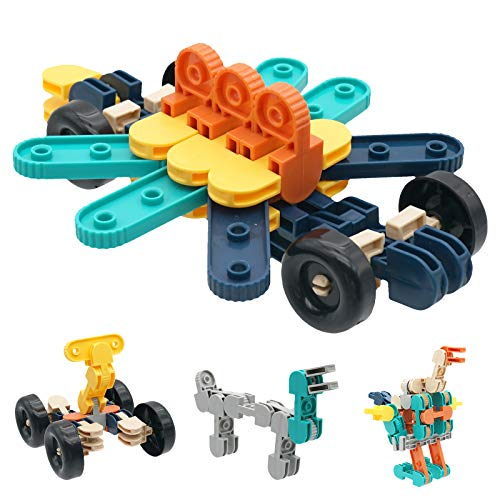 KANKOJO Kids Construction Building STEM Learning Toys Blocks Kit Take Apart Set for Children Ages 3 4 5 6 7 8 9 10 Year Old DIY Stacking Gift for Kids Educational Creative Activity