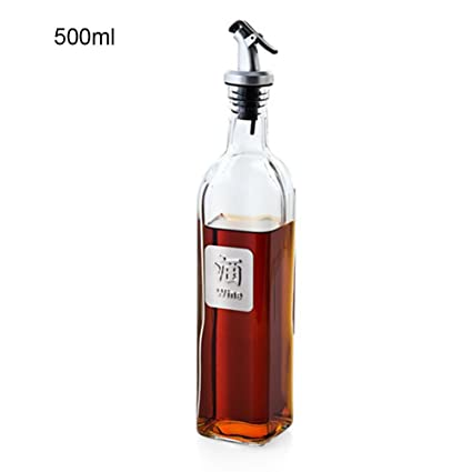 Jannyshop Botella de Condimento de Vidrio para Cocinar Botella de Aceite de Soja Botella de Aceite
