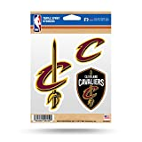 Rico MSS73002 NBA Cleveland Cavaliers Triple Spirit Stickers, Wine, Gold, 3 Team Stickers, Multicolor