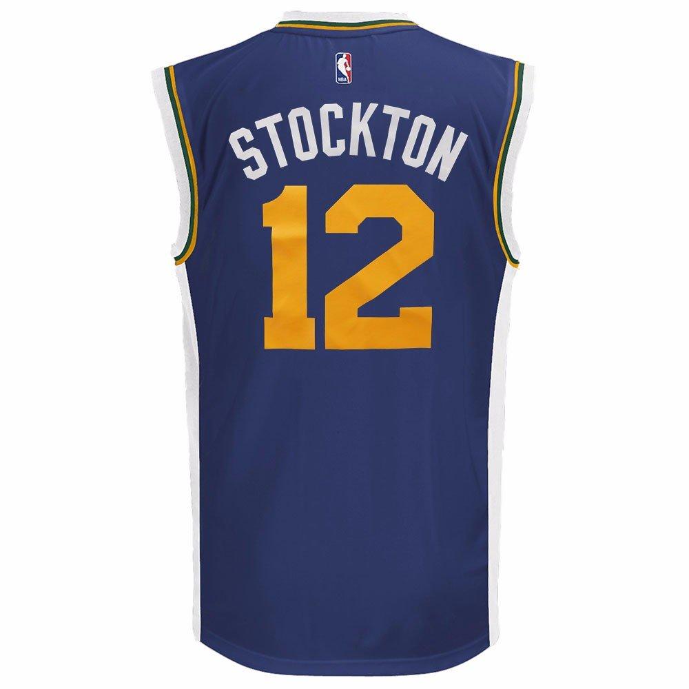 Adidas John Stockton Utah Jazz NBA Hombres Camiseta de Jersey Azul Marino, Azul Marino: Amazon.es: Deportes y aire libre
