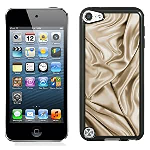 NEW Unique Custom Designed iPod Touch 5 Phone Case With Silk Fabric Golden Soft_Black Phone Case