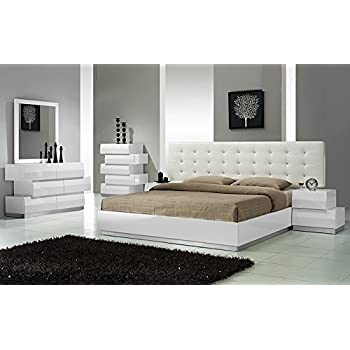 uk availability dc310 7447a Amazon.com: Modern Spain 4 Piece Bedroom Set Eastern King ...