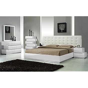 Amazon Modern Seville 48 Piece Bedroom Set Queen Size Bed Mirror Gorgeous Modern Bedrooms Furniture Exterior
