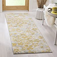 Safavieh Evoke Collection EVK236P Vintage Floral Grey and Gold Runner (22 x 11)