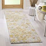 Cheap Safavieh Evoke Collection EVK236P Vintage Floral Grey and Gold Area Rug (2'2″ x 4′)