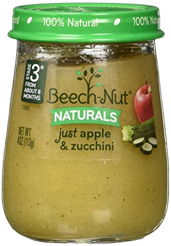 Beech-Nut Stage 3 Baby Food, Just Apple/Zucchini, 4.0 Ounce (Pack of 10)