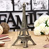 Bronze Tone Paris Eiffel Tower Figurine Statue Vintage Model Decor Alloy 13centimeter (5.1inch)