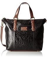Tignanello Borought Palm Embossed Vintage Tote Convertible Shoulder Bag