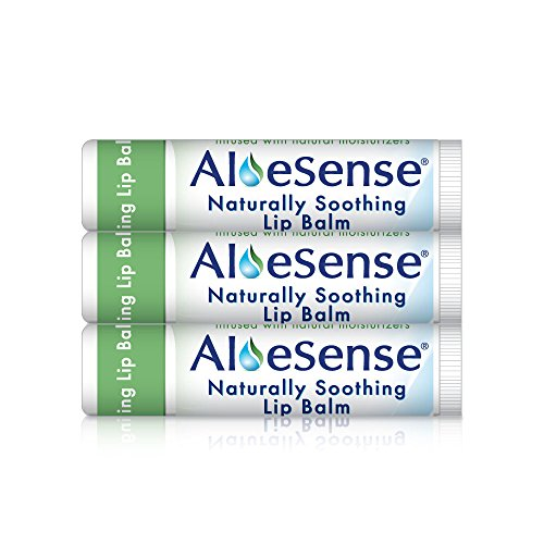 AloeSense Naturally Soothing Lip Balm w/ SPF 15, Natural, 0.15 oz (3 Count) (Moisture Stick Plus Vitamin E)