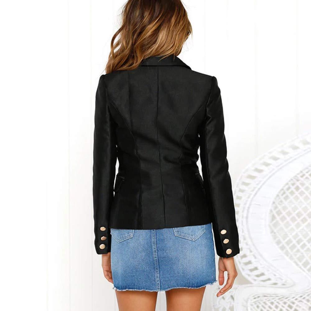 430174cb0ba70 Blazer en Velours Noir Femme Chic, Overdose Hiver Soldes Veste Casual  Workwear Classique Suit Jacket Blazer-12