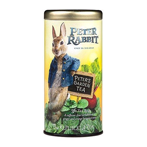 (The Republic Of Tea Peter's Garden Tea, 36 Tea Bags, Caffeine-Free Herbal Tea Inspired By Peter Rabbit)