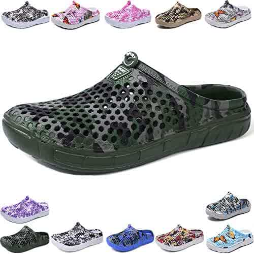 SANNOVO Garden Clogs Shoes Sandals Slippers 3D Printing Walking Female Footwear