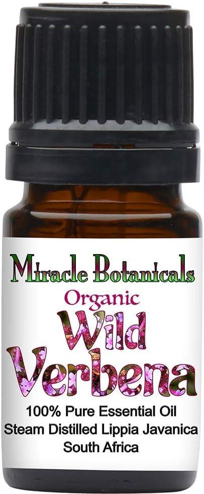 Miracle Botanicals Organic Wild Verbena Essential Oil - 100% Pure Lippia Javanica - Therapeutic Grade (5ML)