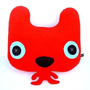 """Amazon.com: 12"""" Big Head Small Body Red Cat Stuffed Doll ..."""