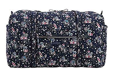 Holiday Womens Bag - Vera Bradley Iconic Large Travel Duffel in Holiday Owls, Signature Cotton
