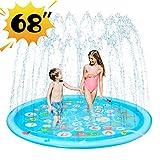 Wevon Splash Pad, 170cm Sprinkle Play Mat, Sprinkler for Kids, Sprinkler Pool for Children, Outdoor Water Toys, Educational Wading Pool for Toddlers Boys Girls