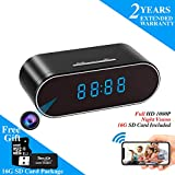 WEMLB HD 1080P WiFi Hidden Camera Alarm Clock Night Vision/Motion Detection/Loop Recording Wireless Security Camera for...