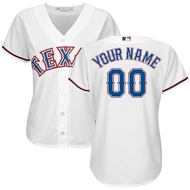 buy online b9c28 1130e Amazon.com: MLB Texas Rangers Jersey Personalized Baseball ...