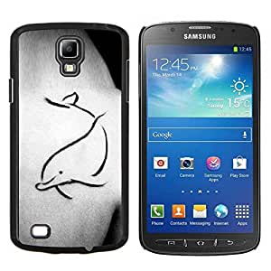 LECELL--Funda protectora / Cubierta / Piel For Samsung Galaxy S4 Active i9295 -- Tattoo Body Art Pintura simple --