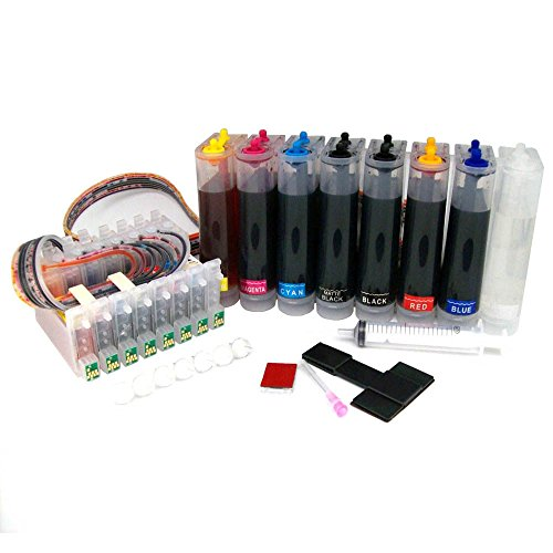 INKUTEN - [Continuous Ink Supply System] for Stylus Photo Printers R800 R1800 CISS CIS