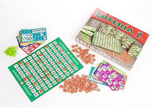 Marigo Loteria 48 - Juego de mesa, cartónes fichas de color madera: Amazon.es: Juguetes y juegos