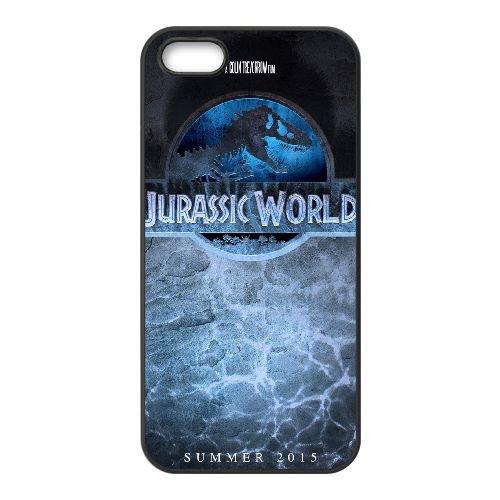 Jurassic World 0A coque iPhone 5 5S cellulaire cas coque de téléphone cas téléphone cellulaire noir couvercle EOKXLLNCD24979