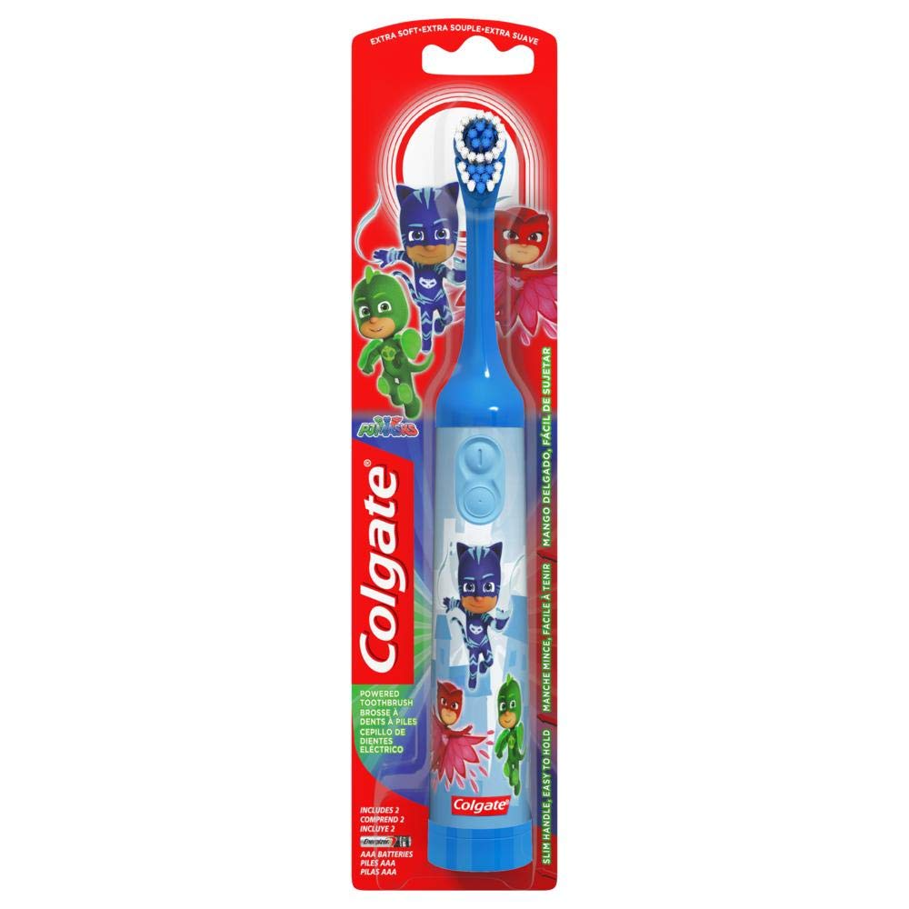 Set of 3 Colgate Kids PJ Masks Battery Electric Toothbrush - Includes Batteries