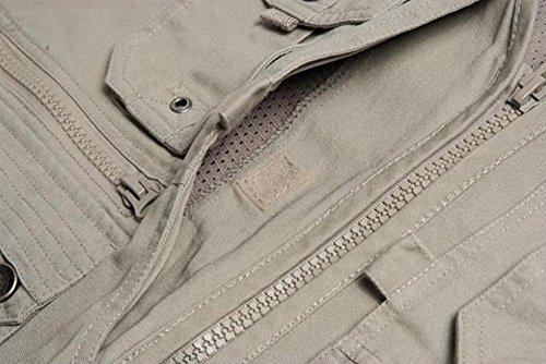 Photographie Sans Zipper Coton Chasse Veste D'extérieur Foncé PrxPHq