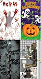 Cheap (Pack of 3 Chosen at Random) Door Covers – Help Us Pumpkin Vine Zombies Inside Skeleton on Toilet (Comes with Free How to Live Stress Free Ebook)