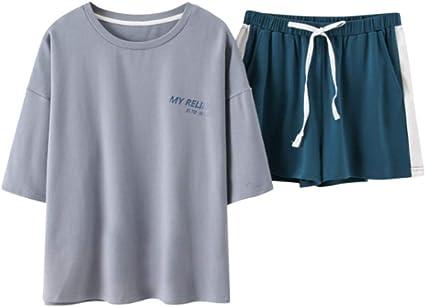 Pijamas para Mujer, Conjunto De Algodón De Pijama para Mujer Ropa ...