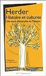 Histoire et cultures par Johann Gottfried von Herder