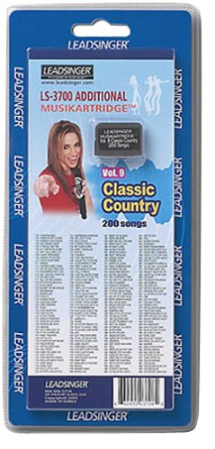 Leadsinger LS-3C09 Classic Country Cartridge for LS-3000 Series Karaoke System (200 Songs) ()