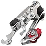 Dcolor Racing Bicycle Part Silver Tone Metal 3-7 Speed Rear Derailleur