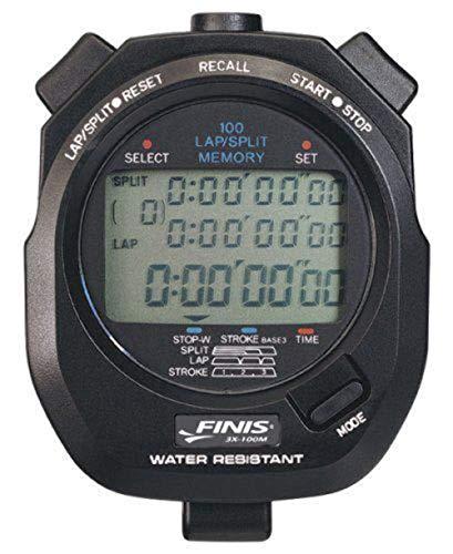 Finis Memory Stopwatch 3×100 M, zwart, één maat