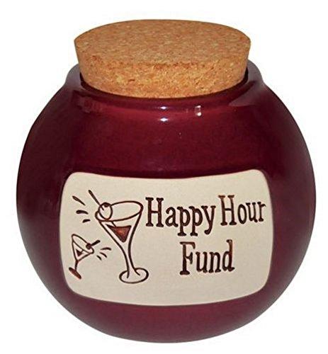 Fund Jar - Money Hand Crafted Word Jar...The Original Word Jar (Happy Hour Fund)
