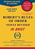 img - for Robert's Rules of Order Newly Revised In Brief, 2nd edition (Roberts Rules of Order in Brief) by Robert, Henry M. III, Honemann, Daniel H., Balch, Thomas J. (2011) Paperback book / textbook / text book