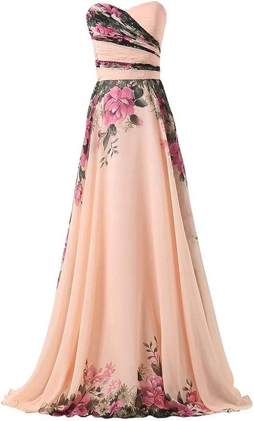 Eleganti per Sposa Cerimonia e Damigella Fashion Moderno da Discoteca Party Sera Ballo o Festa Abito Cerimonia Donna Vestiti Lunghi Ragazza in Chiffon