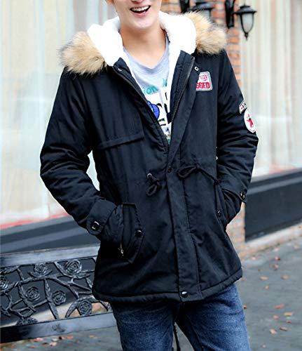 Sleeve Fashion Dress Black Women Faux Outdoor Couples Warm Jacket Fur Men Fieece 2 Autumn Solid Long Coat Outwear Long Wool Moonuy Winter Casual Hood Unisex WHagBHqw